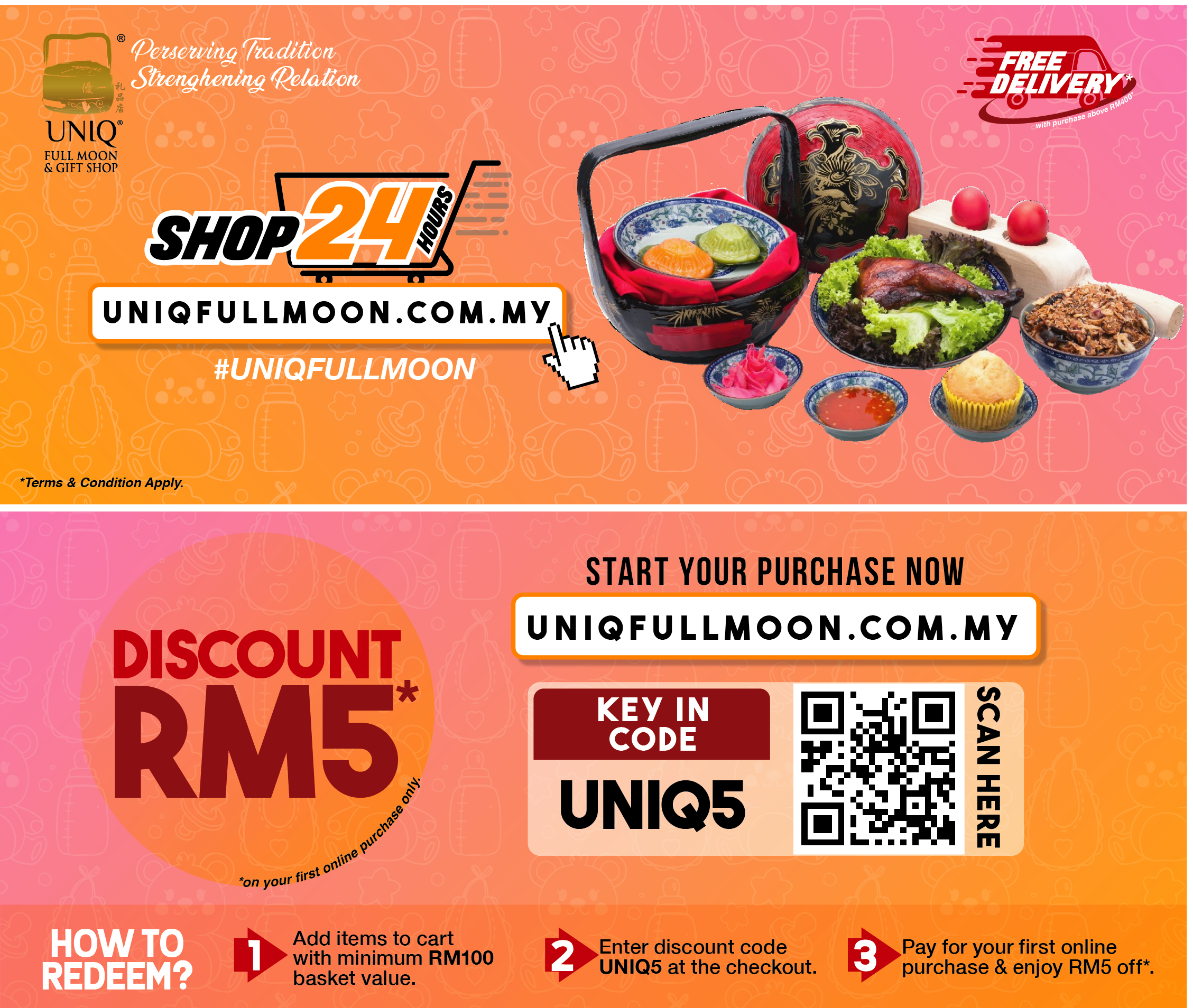 DISCOUNT RM5 FOR FIRST ONLINE PURCHASE